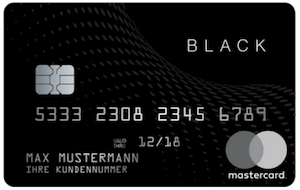 Black&Whitecard Prepaid Mastercard Black