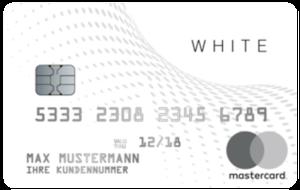Black&Whitecard Prepaid Mastercard White