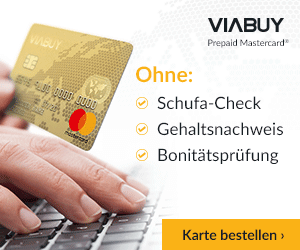 VIABUY Prepaid Mastercard: Ohne Schufa & Postident