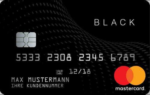 Black&White Prepaid Mastercard Schwarze Karte